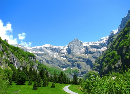 european alps: French Alps landscape