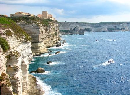 Bonifacio, in Corsica Stock Photo