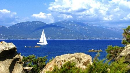 Segeln auf Korsika Lizenzfreie Bilder