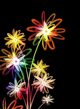 Flowers in colorful design photo