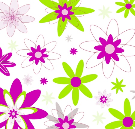 Flowers background in naive and modern design