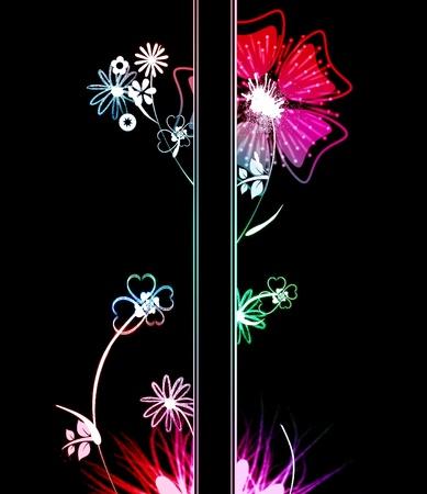 Colorful floral design photo
