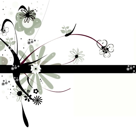 Abstract floral design photo