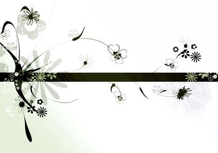 R�sum� design floral