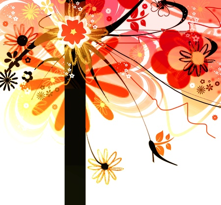 Creative and colorful tree photo