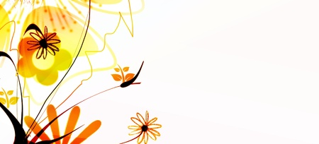 Vivid flowers abstract design photo