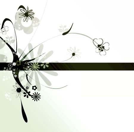 Abstract floral graphic design photo