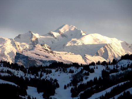blanc: Mont Blanc sunset Stock Photo