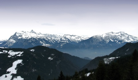 Mont Blanc balcony Stock Photo