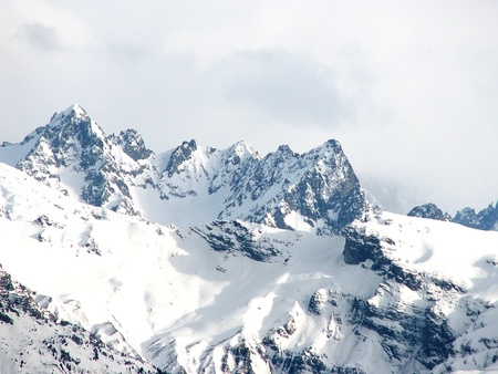 Mont Blanc, in French Alps photo