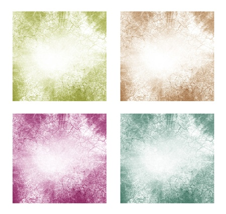 indigo: Set of 4 abstract vintage backgrounds
