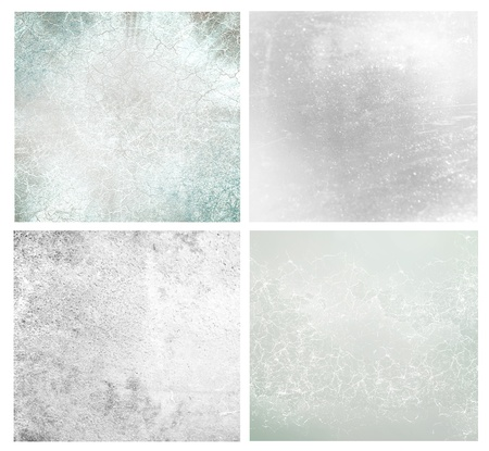 Set of 4 textured vintage background photo