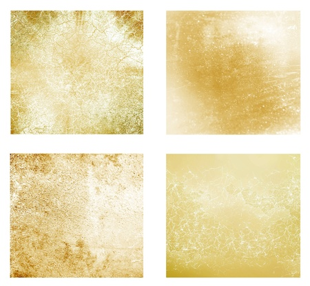 Set of 4 gold different backgrounds