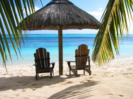 Honeymoon front of a Caribbean beach