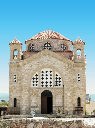 Cyprus orthodox church Stock Photo