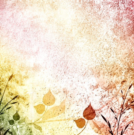 Used background of romantic leaves photo