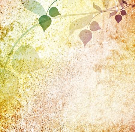 Arri�re-plan utilis� des feuilles romantiques Banque d'images