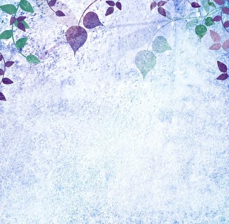Blue leaves vintage background photo
