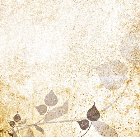arabesque pattern: Vintage leaves background Stock Photo