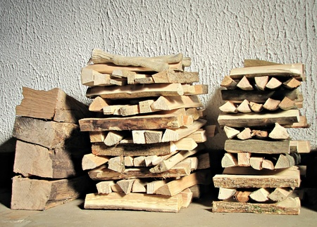 Logs for chimney fire photo