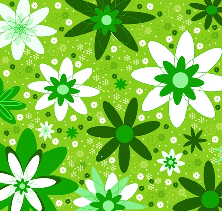 Floral green pattern photo