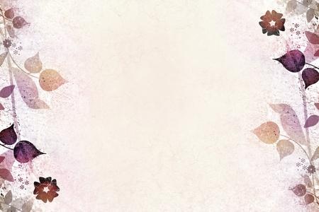 floral frame: Romantic floral vintage background