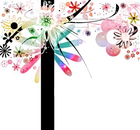 whimsy: Crazy floral tree