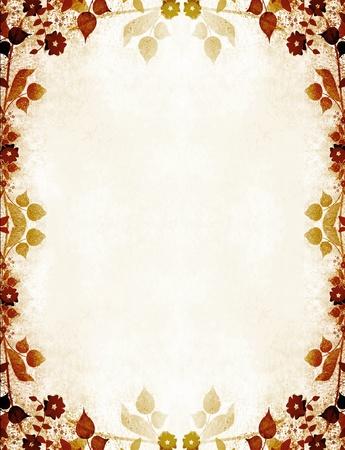 Floral cadre de cru Banque d'images