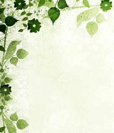 whimsical: Green leaves Stock Photo