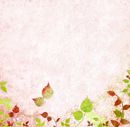 Vintage and romantic floral pattern photo