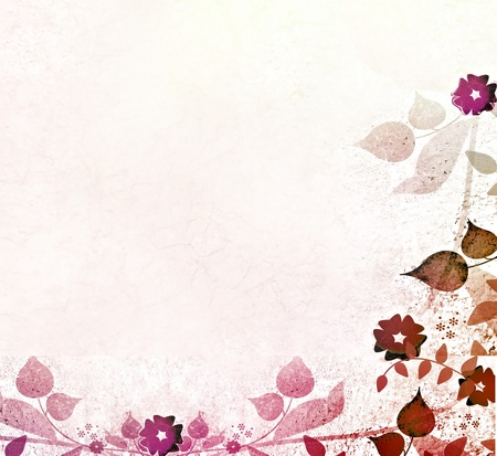 scratch card: Pink floral pattern