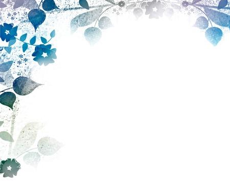 Fond bleu floral romantique