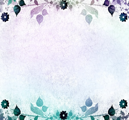 Blue romantic floral background photo