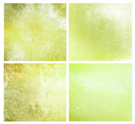 Set of 4 green different textured background photo