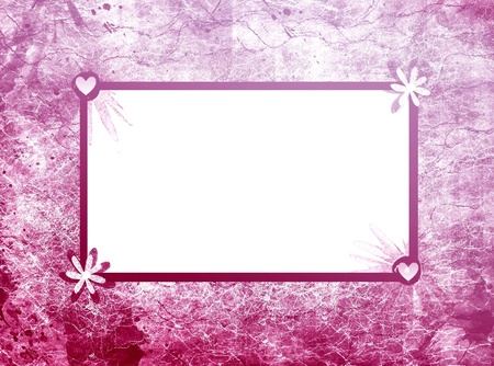 Pink floral frame photo