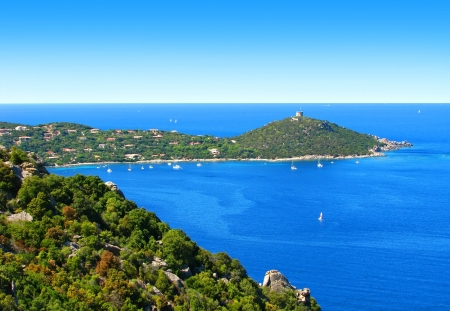 Campomoro bay, in Corsica Stock Photo