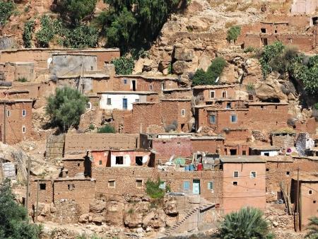 berber: Berber village, in Moroccan Atlas