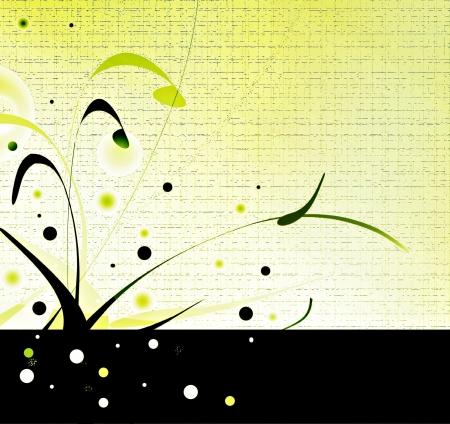 Banni�re invitation vert Banque d'images