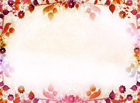 arabesque: Foglie di autunno sfondo cornice