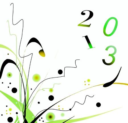 2013 cartes de v?ux Banque d'images