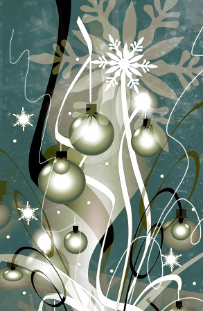Whimsical silver Christmas tree photo