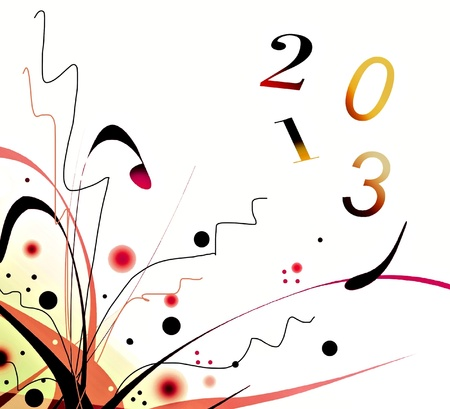 Happy new year 2013 Stock Photo - 15034504