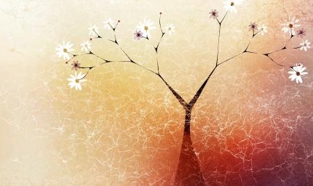 Abstraction arbre automne Banque d'images