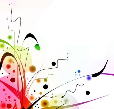 arabesque: Dise�o colorido y festivo fizzy Foto de archivo