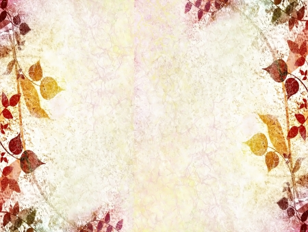 pastel color: Autumn leaves background