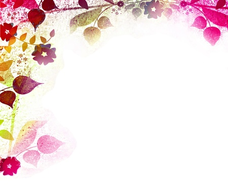Floral vintage background photo