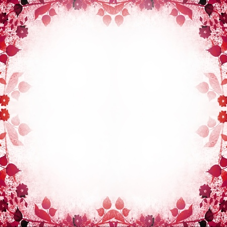 Pink floral vintage frame Stock Photo - 16760030