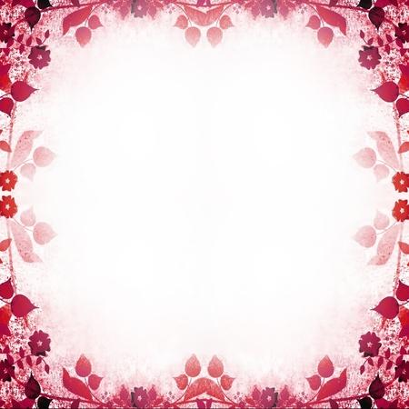 Pink floral vintage frame