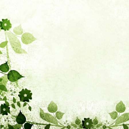 Green vintage floral background Stock Photo