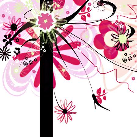 Floral invitation  photo